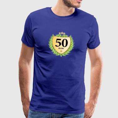 fifty fifty nu lauwerkrans 50th Birthday Star - Mannen Premium T-shirt