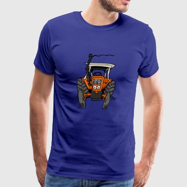 0093 orange traktor - Premium-T-shirt herr