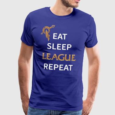 Eat, Sleep, League, Repeat - Men's Premium T-Shirt