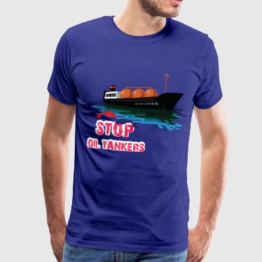 Stop the pollution of the sea oil tanker - Men's Premium T-Shirt