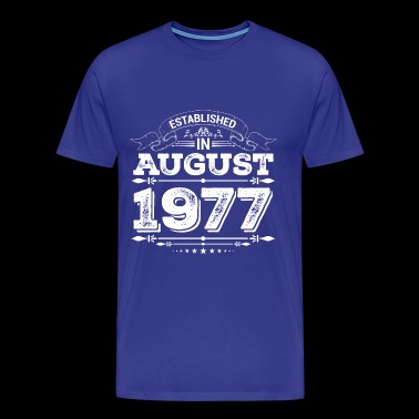 Established in August 1977 - Men's Premium T-Shirt
