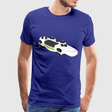 White game console controller idee - Mannen Premium T-shirt