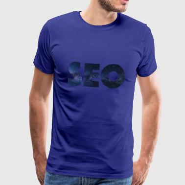 SEO with starry sky - Men's Premium T-Shirt