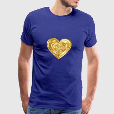 Gleaming heart gold - Men's Premium T-Shirt