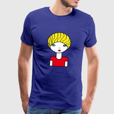 modellen | Catwalk Mannequin Design Pop Art Chic | - Premium T-skjorte for menn