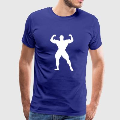 Bodybuilding Muscles Weights Strong man's body - Men's Premium T-Shirt