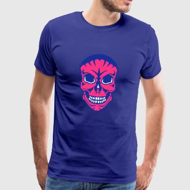 death head halloween fear drawing 1910 - Men's Premium T-Shirt
