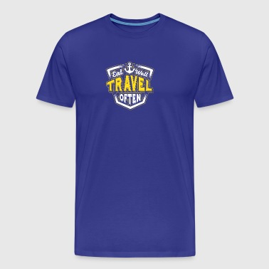 Eat well, travel often. - Men's Premium T-Shirt