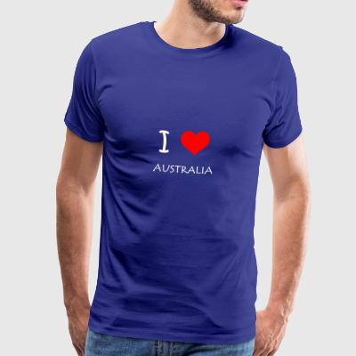 I Love Australia - Men's Premium T-Shirt
