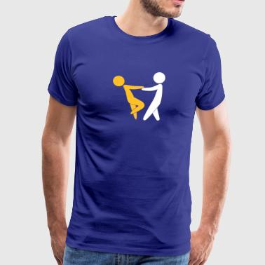 Couple Dancing On Valentine's Day - Men's Premium T-Shirt