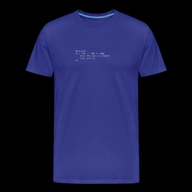 Hamlet: To be, or not to be - Männer Premium T-Shirt