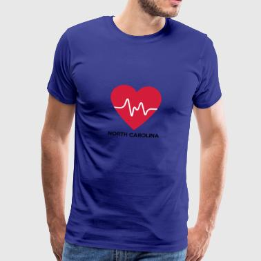 Heart North Carolina - Herre premium T-shirt
