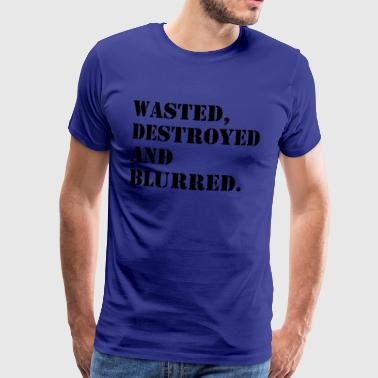 W'sted, destroyed and blurred - Men's Premium T-Shirt