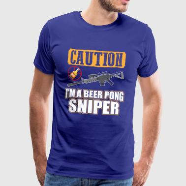 BEER PONG SNIPER - Men's Premium T-Shirt