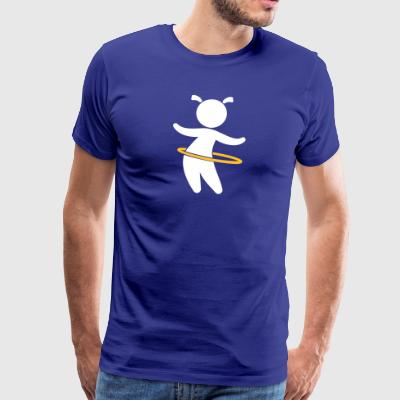 Child Playing With Hoolahoop - Men's Premium T-Shirt