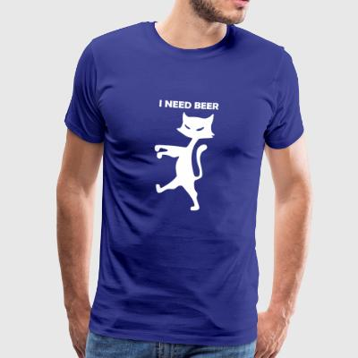 cat-i-need-beer - Männer Premium T-Shirt