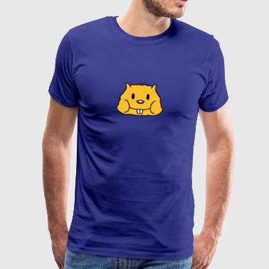 Cute Hamster Face - Men's Premium T-Shirt