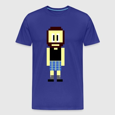 Pixel Scotsman - Men's Premium T-Shirt