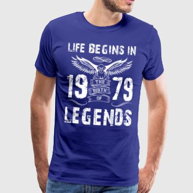 Life Begin In 1979 Legends - Men's Premium T-Shirt