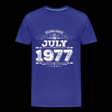 Established in July 1977 - Men's Premium T-Shirt