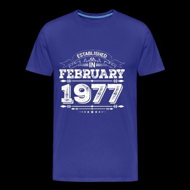 Established in February 1977 - Men's Premium T-Shirt