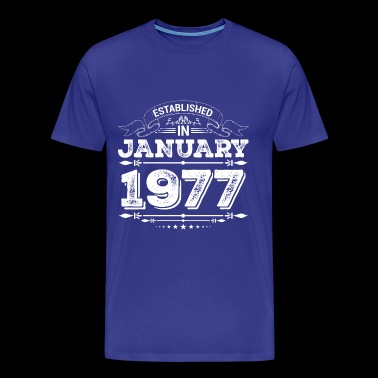 Established in January 1977 - Men's Premium T-Shirt