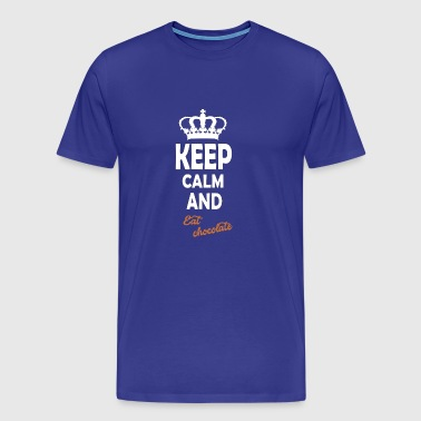 keep calm and eat chocolate - Men's Premium T-Shirt