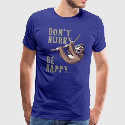 Faultier chillen sleep Slow happy Humor fun Nerd - Männer Premium T-Shirt