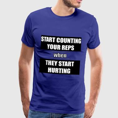 Fitness - Start counting your reps - Men's Premium T-Shirt