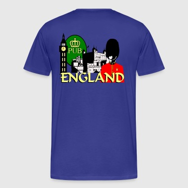 Double Decker Bus London England - Men's Premium T-Shirt