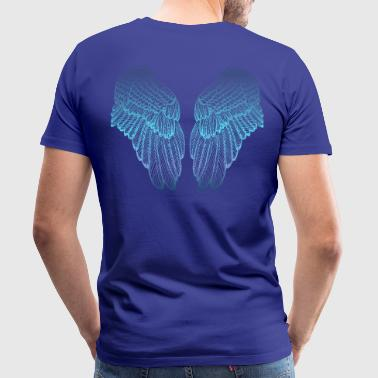 Gefiederte blau getönten Angel Wings - Männer Premium T-Shirt