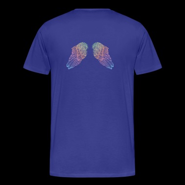 Rainbow Colored Angel Wings - Premium T-skjorte for menn