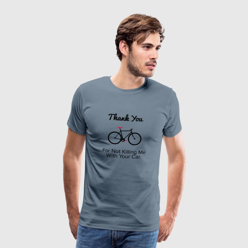 Thank you - For the provocative cyclist. - Men's Premium T-Shirt