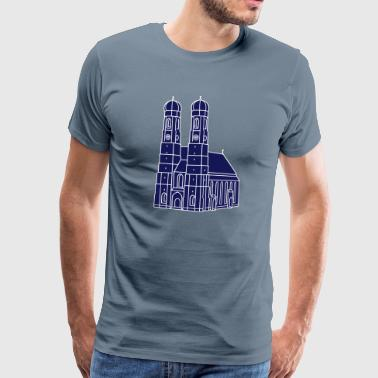 Munich Frauenkirche 2 - Men's Premium T-Shirt