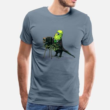 Budgie Budgie Camera - Men's Premium T-Shirt