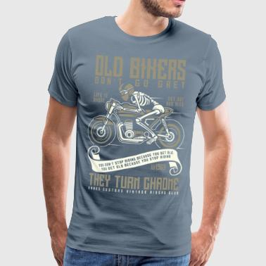 Turn Old Bikers Turn Chrome - Men's Premium T-Shirt