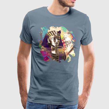 King Tut  Mask Abstract composition - Men's Premium T-Shirt