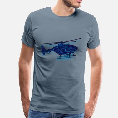 Aviation Helicopter Helicopter - Men's Premium T-Shirt