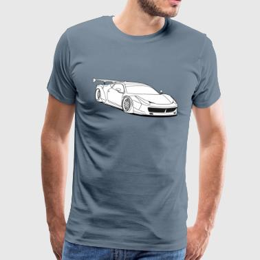 custom car white - Men's Premium T-Shirt