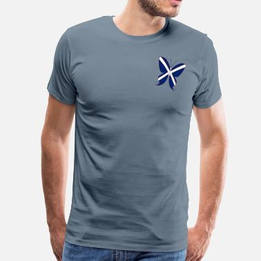 Scottish Designs Scottish Butterfly - Men's Premium T-Shirt