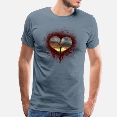 Couples &amp bleeding heart - Men's Premium T-Shirt
