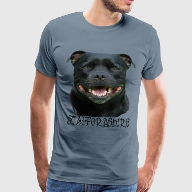 Staffordshire, Terrier, Stafford, dog head, Staffbull - Men's Premium T-Shirt