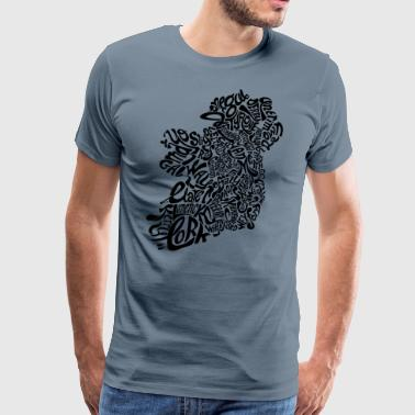 Ireland Type - Men's Premium T-Shirt