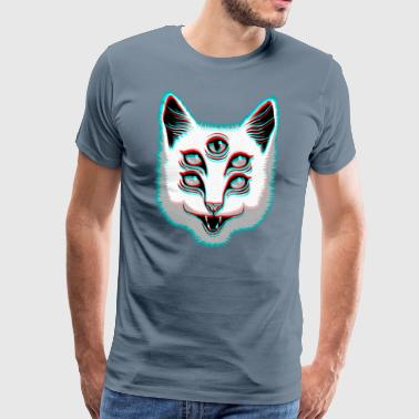 Glitch Cat - Männer Premium T-Shirt