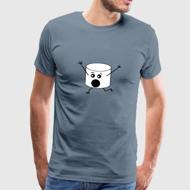 Marshmallows Funny Gift Idea - Mannen Premium T-shirt
