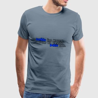 Genitive in the water (blue) - Men's Premium T-Shirt