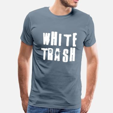 New World Order White Trash Patriots - Mannen Premium T-shirt