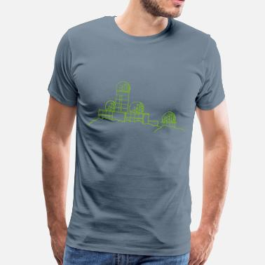 Tower Hill Listening station on Teufelsberg - Men's Premium T-Shirt