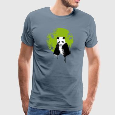 panda world, earth, watercolor, painting color extend u - Men's Premium T-Shirt