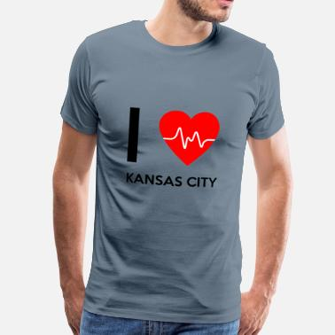 Kansas City I Love Kansas City - Jeg elsker Kansas City - Herre premium T-shirt